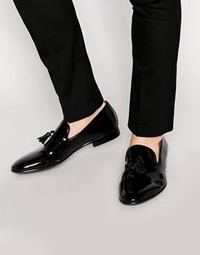 Standard Fortyfive Patent Leather Tassel Dress Slippers