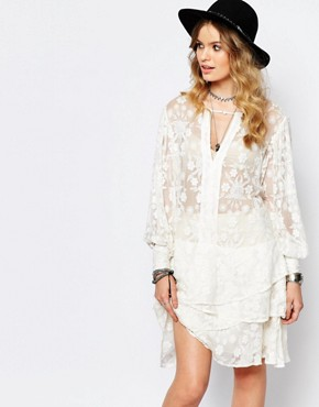 Stevie May Dignity Layer Mini Dress in White