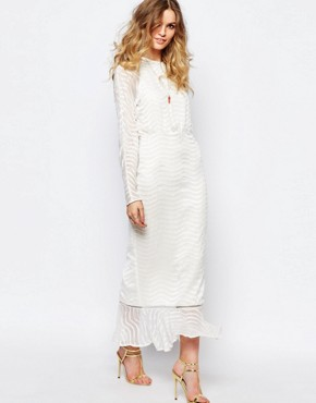 Stevie May Clear Array Maxi Dress in White