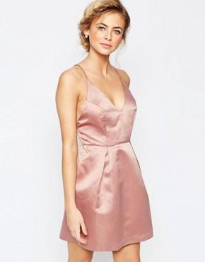 True Decadence Mini Prom Dress With Cami Strap Detail