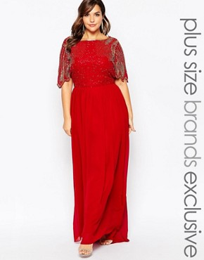 Virgos Lounge Plus Lena Maxi Dress With Embellishment