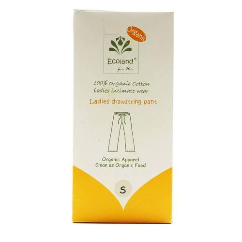 Ecoland Ladies Drawstring Pant, Natural, Small