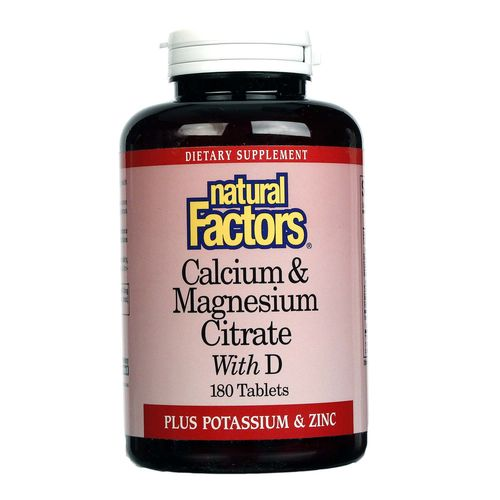 Natural Factors Calcium & Magnesium Citrate With D