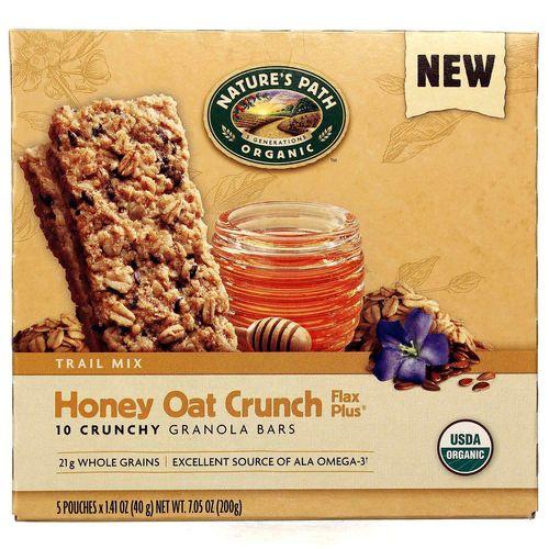 Natures Path Honey Oat Crunch Flax Plus Granola Bars