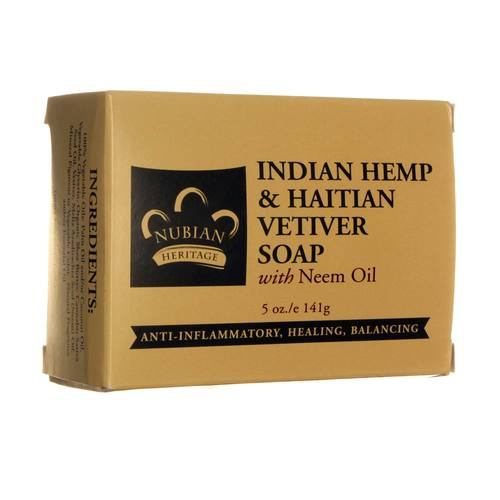 Nubian Heritage Indian Hemp and Haitian Vetiver Soap