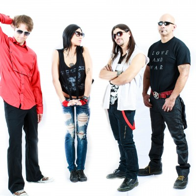 Inside Riot band shoot