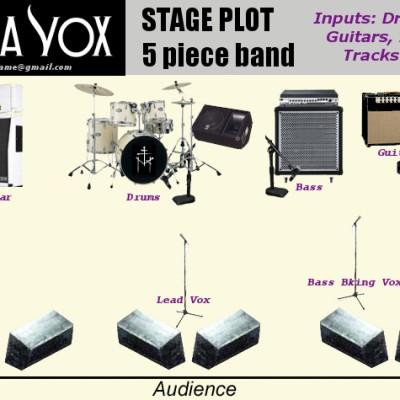 MV 5 Piece Band STAGE PLOT