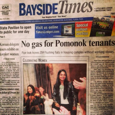Bayside Times Newspaper// Front Page