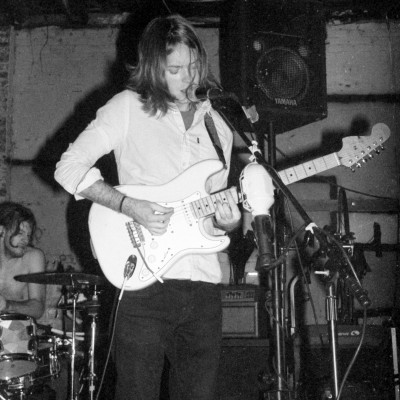 Jon guitaring at Bellfoundry