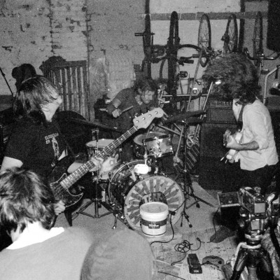 The band shredding at Bell Foundry