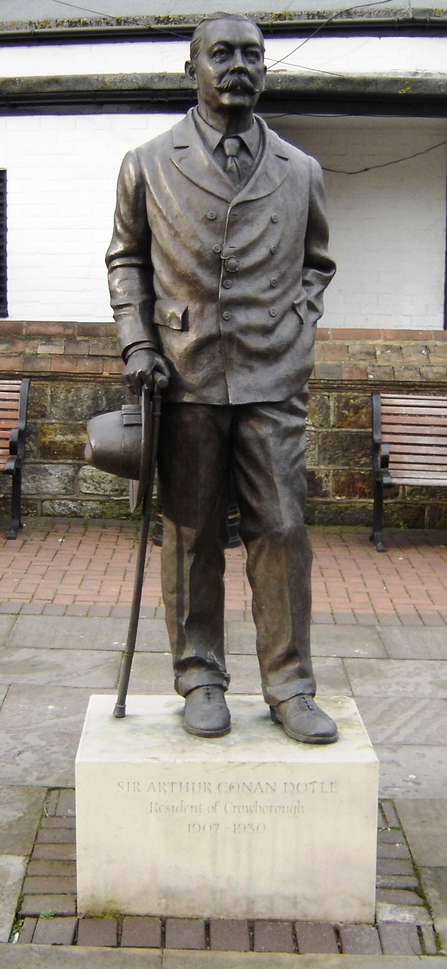 Doyle statue in Crowborough, East Sussex