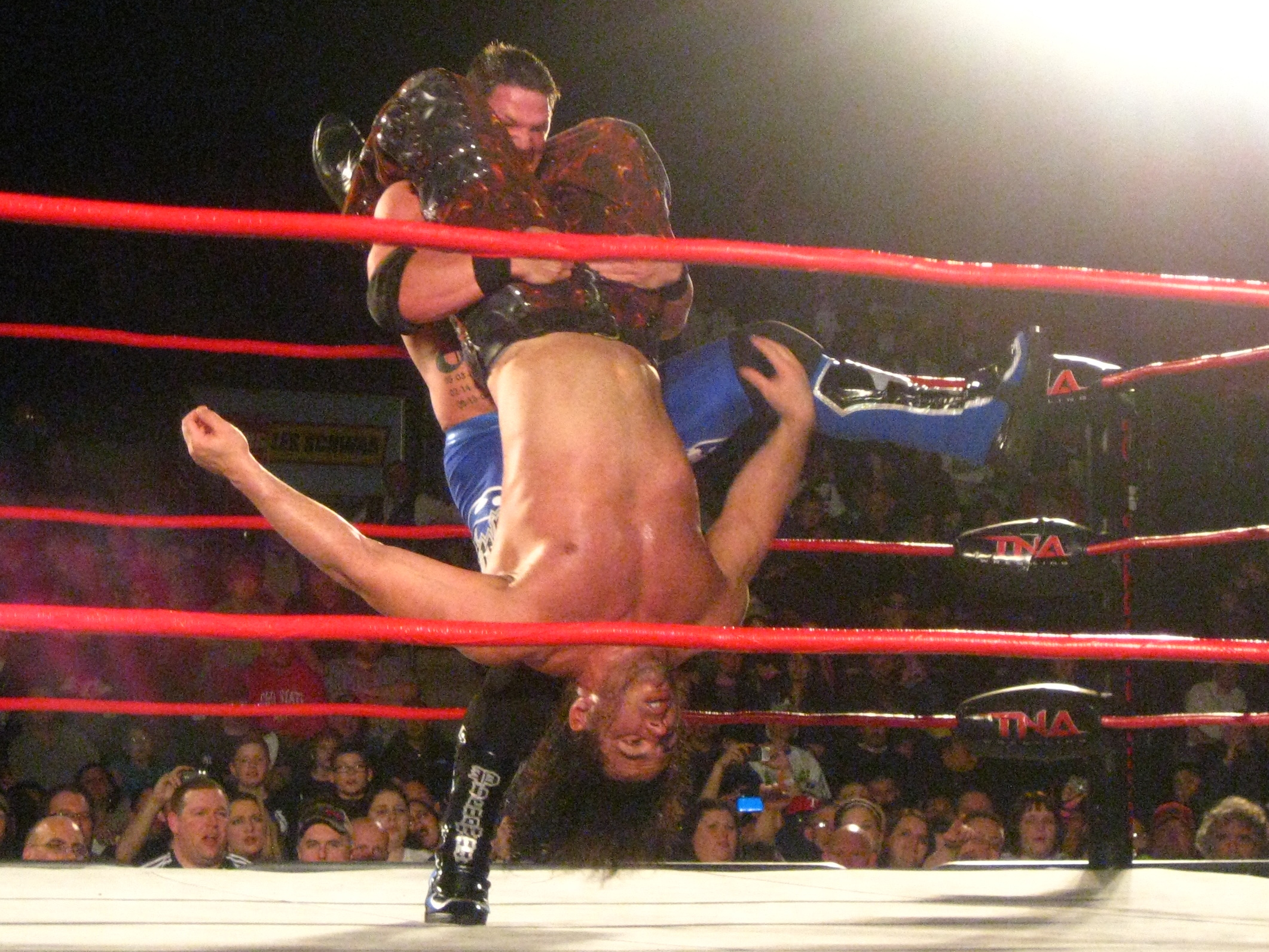 Styles preparing to perform the Styles Clash on Matt Hardy.