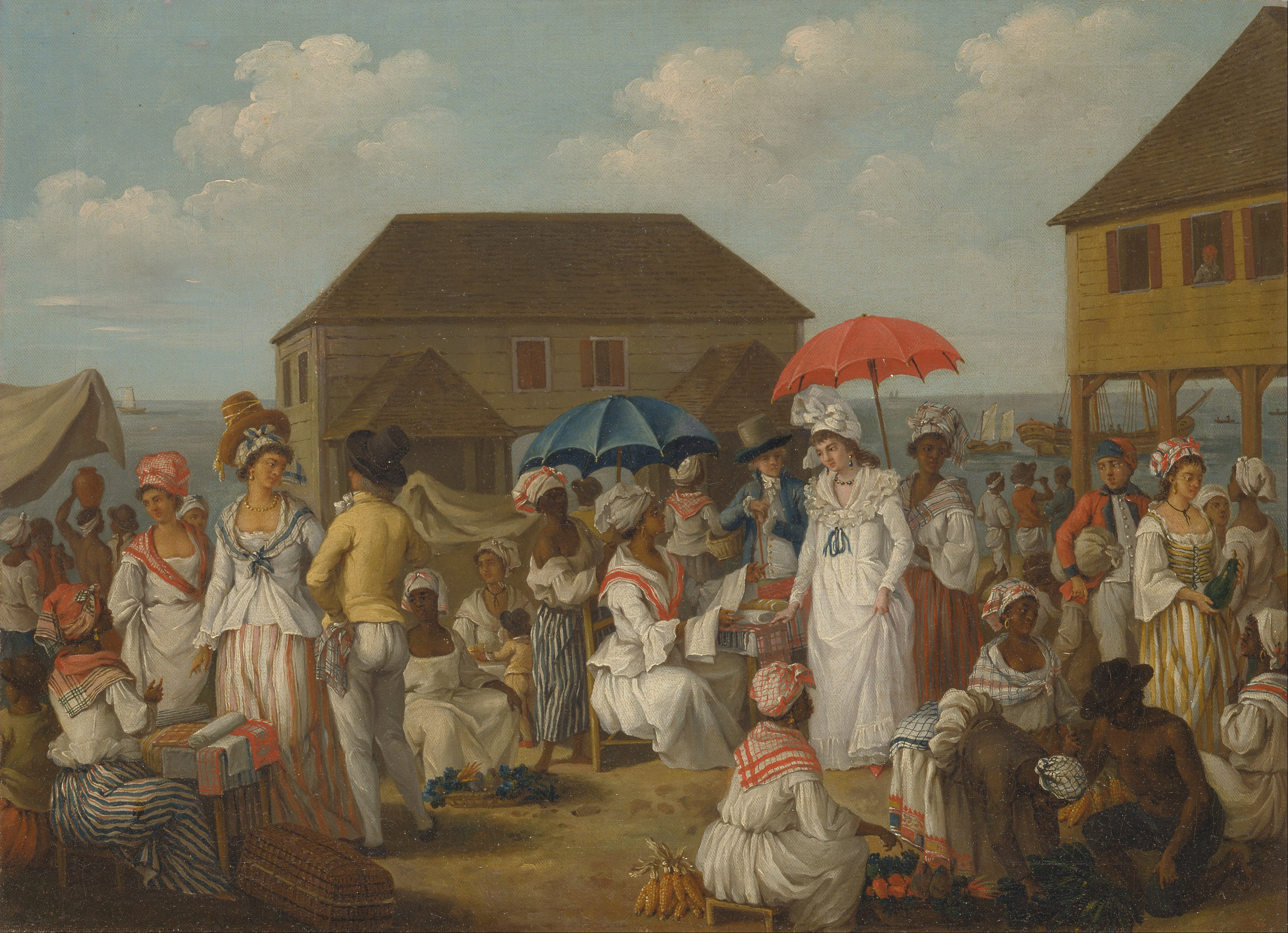 A linen market in 1770s Dominica