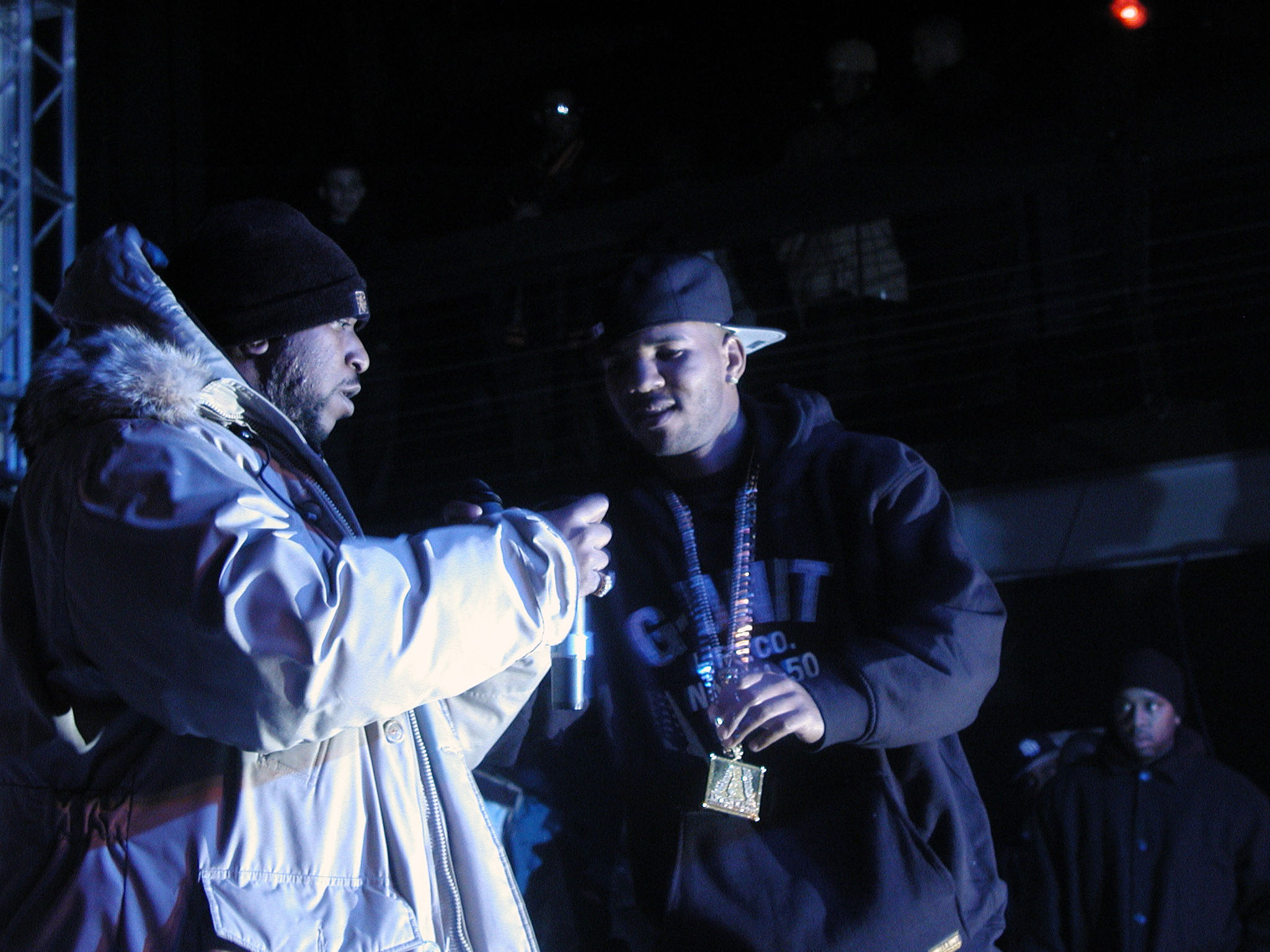 Game (right) with Kool G Rap (left) in New York City, November 2004