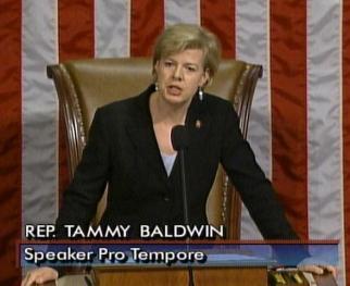 Baldwin presiding over the House while serving as Speaker Pro Tempore