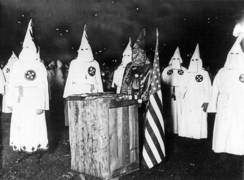 KKK night rally in Chicago, c. 1920