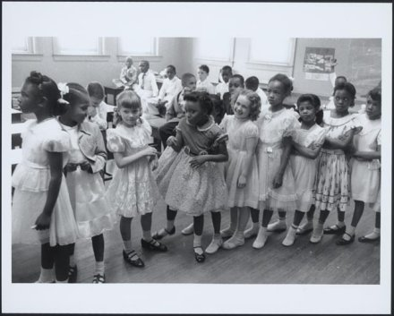School integration, Barnard School, Washington, D.C., 1955