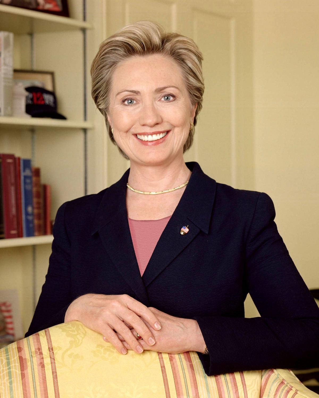 Clinton's official photo as U.S. senator