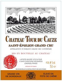 Chateau Tour du Cauze Saint-Emilion Grand Cru 2010
