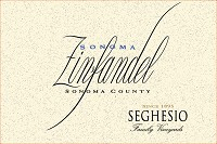 Seghesio Family Vineyards Zinfandel Angela's Table 2013