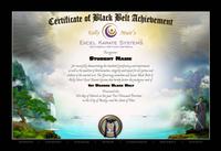 Martial Arts Certificate by Ed Parker Jr.