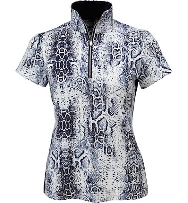 Tail Women's June Printed Short Sleeve Mock