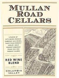 Mullan Road Cellars Red Wine Blend 2013