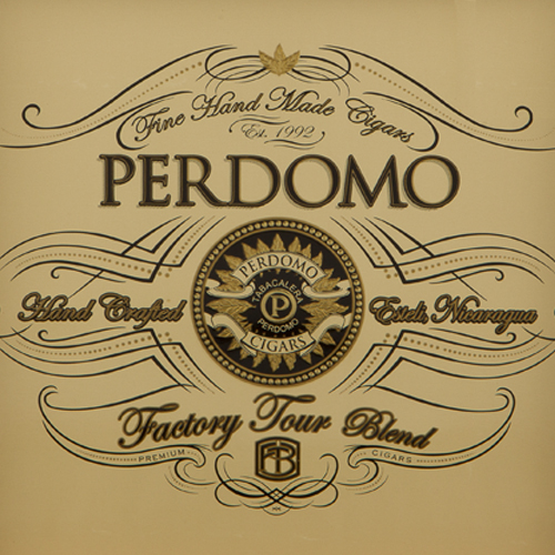 Perdomo Factory Tour Blend Connecticut Robusto · 5 × 52