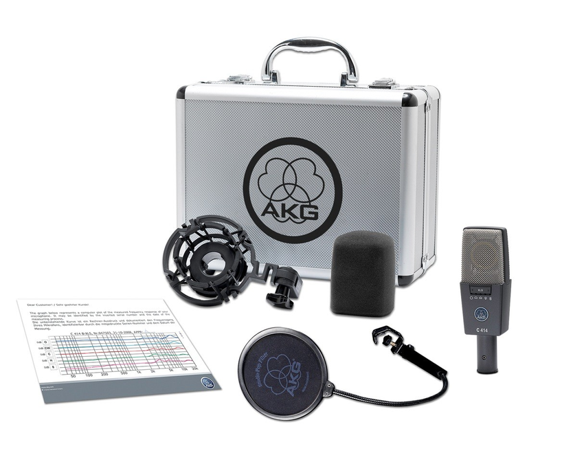 AKG C414 XLS - C 414 XLS 9 Pattern Mic - Will Beat Any Price on AKG C414XLS