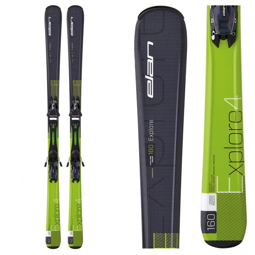 Elan Explore 4 Skis with EL 10.0 Bindings 2016