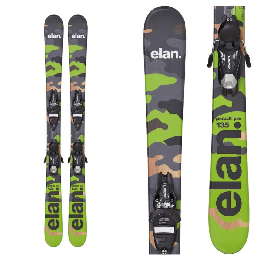Elan Pinball Pro Kids Skis with 7.5 QT Bindings 2016