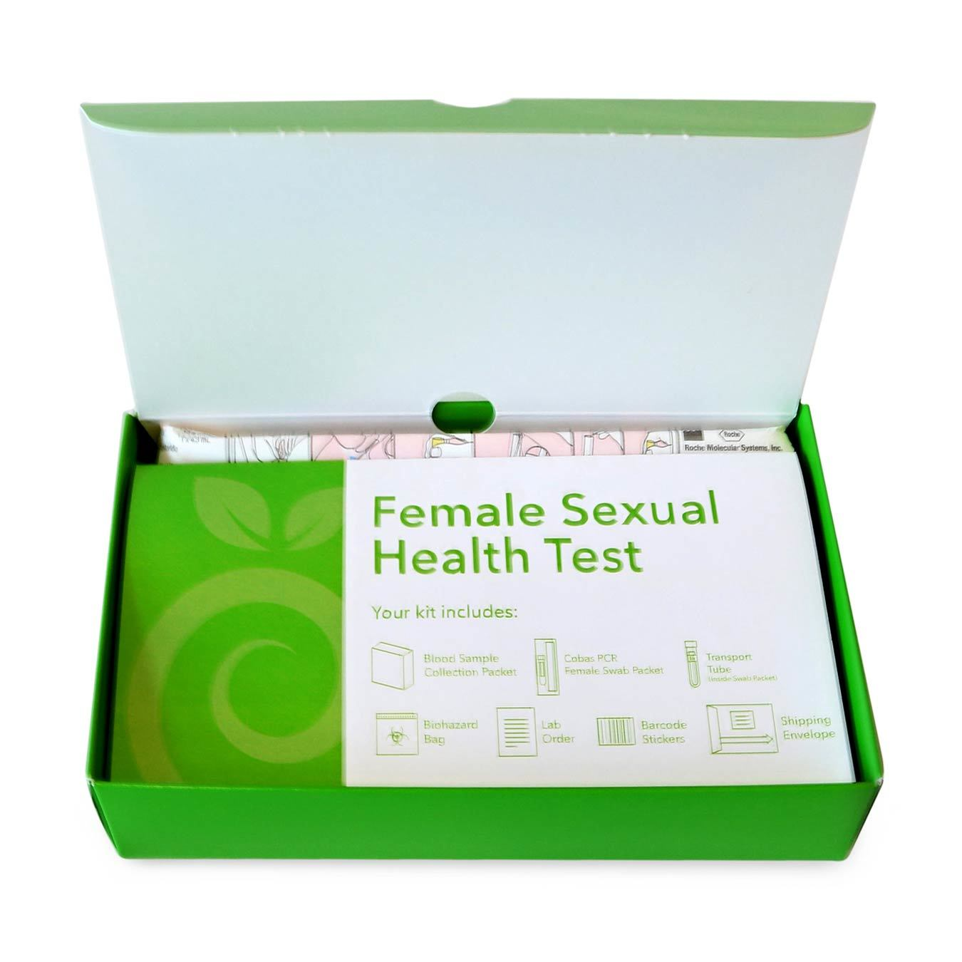 Open Female STD Test Box