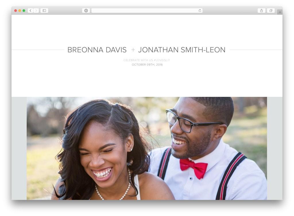 10 real couples wedding websites get inspired now ewedding 7 breonna jonathan junglespirit Images