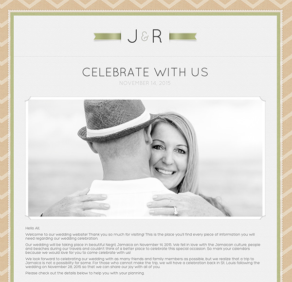 harper wedding website