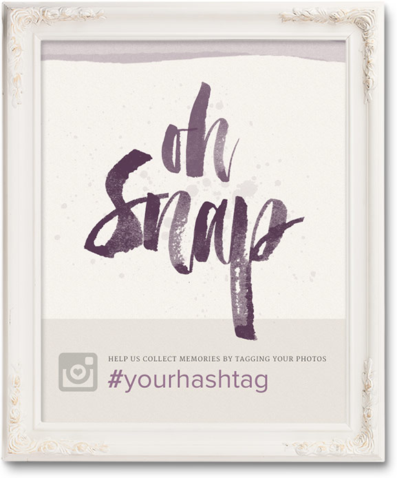 free wedding hashtag posters ewedding