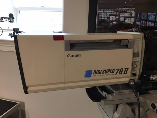 Canon Digi Super 70 II PJ70x9.5B Lens with Semi-Servo Controls and Sled