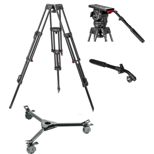 Sachtler Video 18 S2 Head System with ENG 2D Aluminum Tripod, Pan Bar & Dolly S