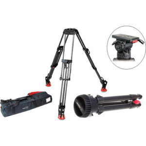 Sachtler DV-12SB Fluid Head (100mm) and Carbon Fiber Tripod Kit