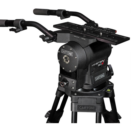 Head, standard sliding camera plate, 2 pan bars