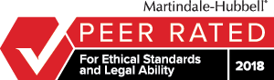 Martindale-Hubbell Peer Review Rated For Ethical Standards and Legal Ability