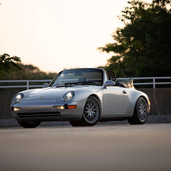 1995 993 Cabriolet PTS Silver With PTS Interior Supercharged picture #1