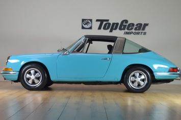 1970 porsche 911t targa factory olympic blue