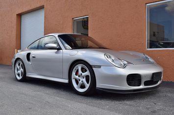 2001 porsche 911 turbo 996 rare silver red