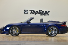 2008 porsche 911 turbo cabriolet 6 speed rare iris blue