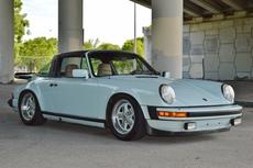 1983 porsche 911 sc targa glacier blue