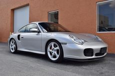 2001 porsche 911 turbo 996 rare silver red