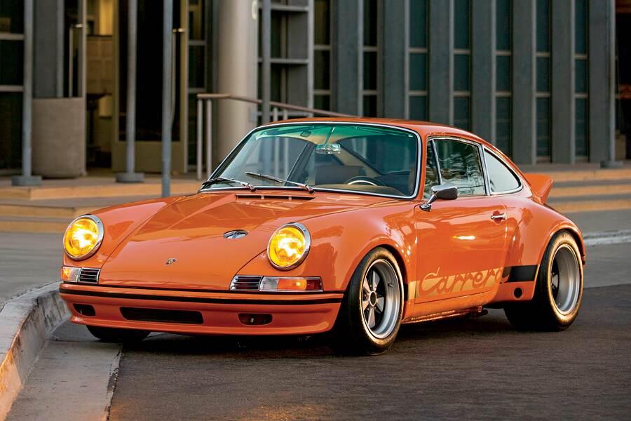 Gas Flap Porsche 911 912 Red 1965-1973 Style