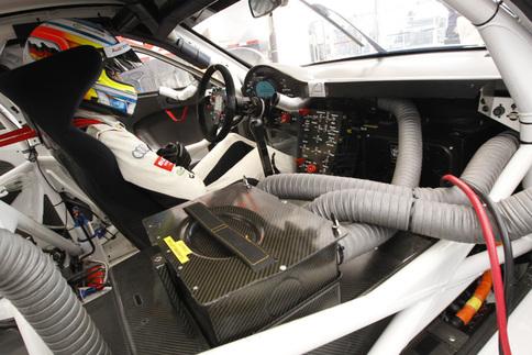 Porsche tests GT3 R Hybrid in the wet at Road Atlanta 1