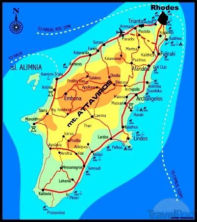 kart over rhodos ixia Ialysos   DavisHunter.com kart over rhodos ixia