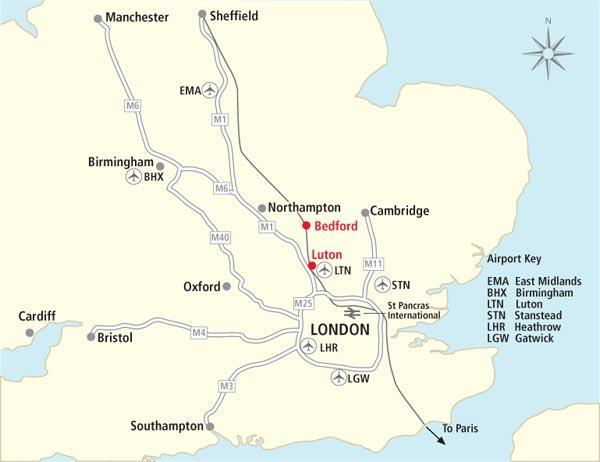 Luton England Map.Luton Davishunter Com